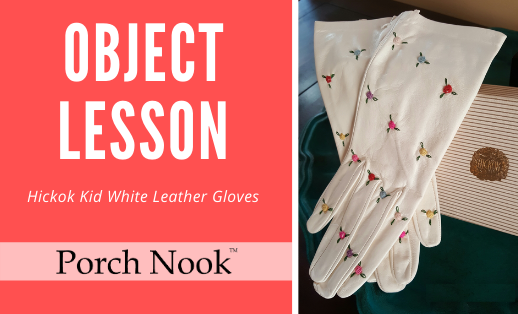 Object Lesson | Hickok Kid White Leather Gloves