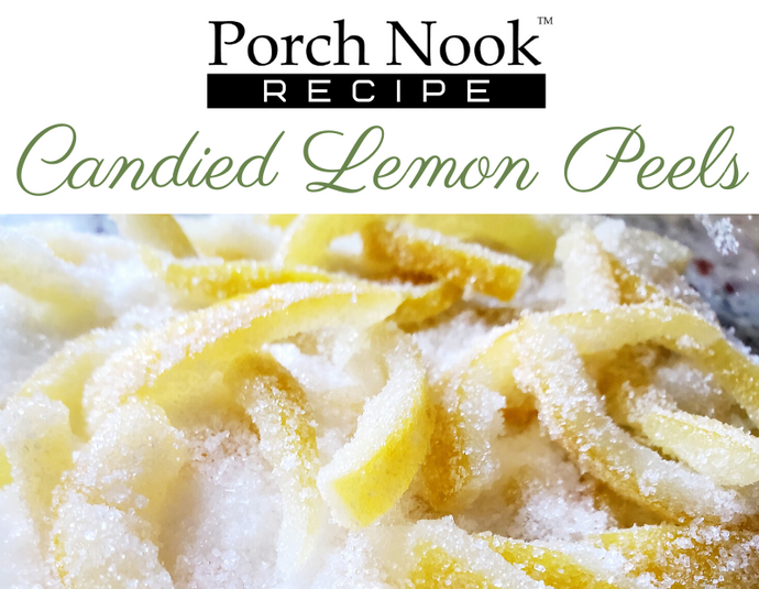 Easy Candied Lemon Peel Recipe