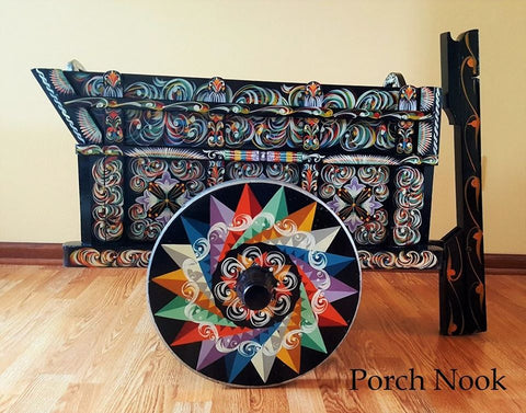 Porch Nook's Object Lesson | Costa Rican Ox-Cart Festival Wagon