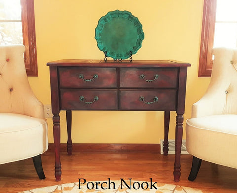 Porch Nook | How to Care for Wax Sealed Painted Furniture