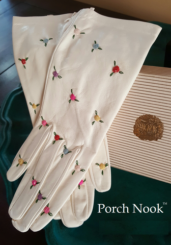 Porch Nook's Object Lesson | Hickok Kid White Leather Gloves