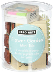 """Flower Garden"" mini tub of stamps by Hero Arts"