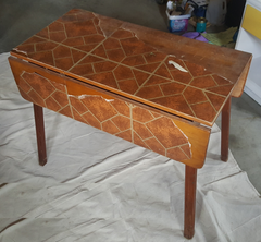 BEFORE: Vintage leaf table
