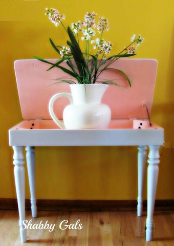 """Tulip"" and ""Dew"" chalky finish paint by Porch Nook"