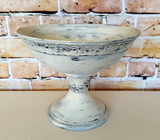 "Metal Bowl with Porch Nook's ""Ol' Faithful"" Chalky Finish Paint"
