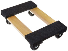 "TruePower 18"" X 12"" Mover's Dolly, 1000lbs Furniture Appliance, 4 x 3"" Rubber Swiveable Casters"