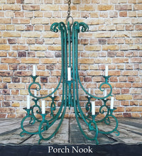 "EXAMPLE: Chandelier w/ ""The Real Teal"", dark wax"