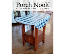 "EXAMPLE: Leaf Table w/ ""After Midnight"" - Porch Nook chalky finish paint"