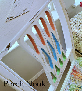 "Dinning chair - Hand Painted w/ ""Ol' Faithful"" by Porch Nook"