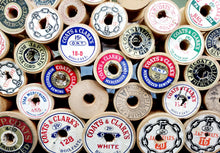 Vintage Wood Spools Lot 48 Pieces, With and Without Thread Wooden Sewing Thread Spools
