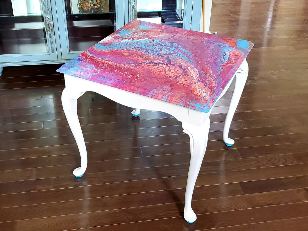 Vintage Drexel End Table - Hand Painted