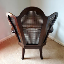 Vintage Montgomery Fan Back Sitting Chair, with Caning in Mahogany