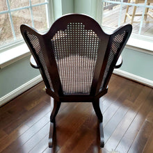 Vintage Montgomery Fan Back Sitting Chair, with Caning in Mahogany, Club Chairs