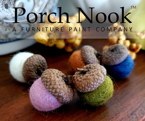 Handmade Felted Wool Acorn Ornaments, Hand Felted, Fall Decor, Thanksgiving Decor, Hostess Gift
