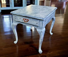 Vintage Drexel End Table with Drawer, Hand Painted
