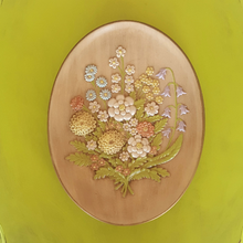 Handcrafted Ceramic Oval Floral Plate, Wall Hanging Décor