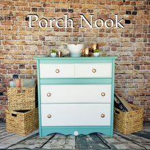 "3 Drawer Dresser w/ Metallic Copper Pulls - Hand Painted w/ ""Sea Glass"" & ""Ol' Faithful"" by Porch Nook"