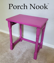 "Example: Nesting table with ""Fuchsia's So Bright"" Porch Nook chalky finish paint"