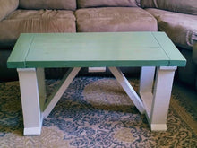"EXAMPLE: Coffee table w/ ""Sea Glass"", designed by Erin Goins, of Erin Goins Photography"