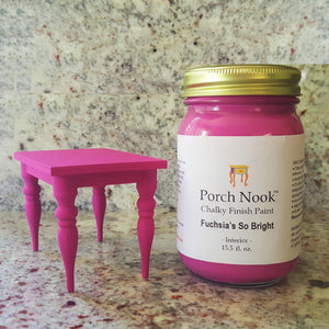 """Fuchsia's So Bright"" - Chalky Finish Paint by Porch Nook"