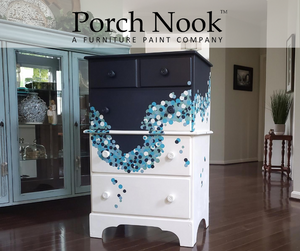"EXAMPLE: Dresser w/ ""Ol' Faithful"" - Porch Nook chalky finish paint"
