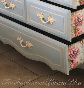 "EXAMPLE: Dresser w/ ""Cashew"" and ""Nantucket"""", designed by Lorena Blea in Nevada"