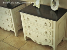 "EXAMPLE: End tables w/ ""Cashew"" and java gel stain, distressed"