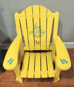 "EXAMPLE: Adirondack Chair w/ ""Butter Me Up"", designed by Southern Inspired in Grenada, MS"
