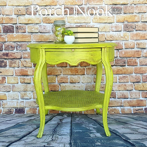 "EXAMPLE: End table w/ ""Sublime"" - Porch Nook chalky finish paint"