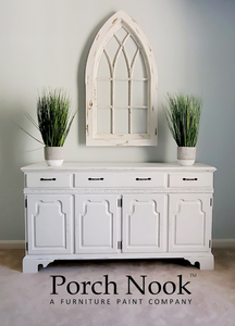 "EXAMPLE: Vintage dresser drawer w/ ""Ol' Faithful"" chalky finish paint by Porch Nook"