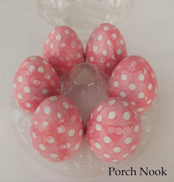 Decoupage Decorative Eggs, Set of 6