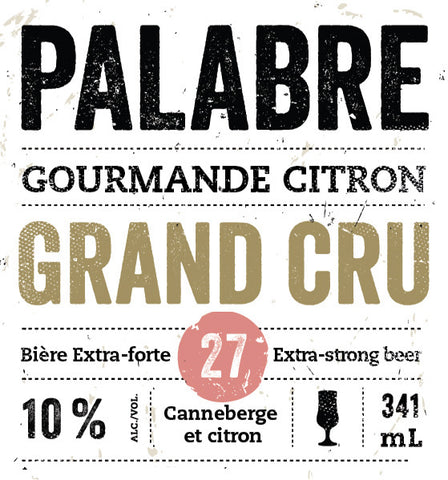 Gourmande Citron Grand Cru | Palabre#27