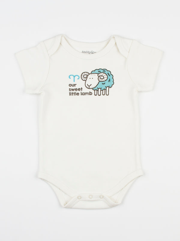baby horoscope body suit onesie unisex aries organic cotton