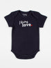 baby body suit onesie unisex navy organic cotton design i bring love