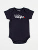 baby body suit onesie unisex navy organic cotton i bring magic