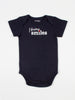 baby body suit onesie unisex navy organic cotton design i bring smiles