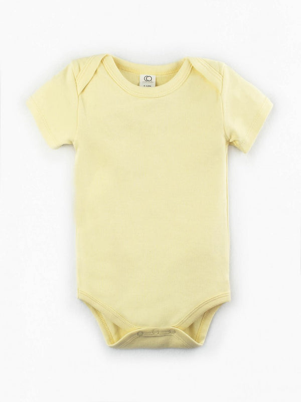 baby short sleeve body suit onesie diaper shirt organic cotton