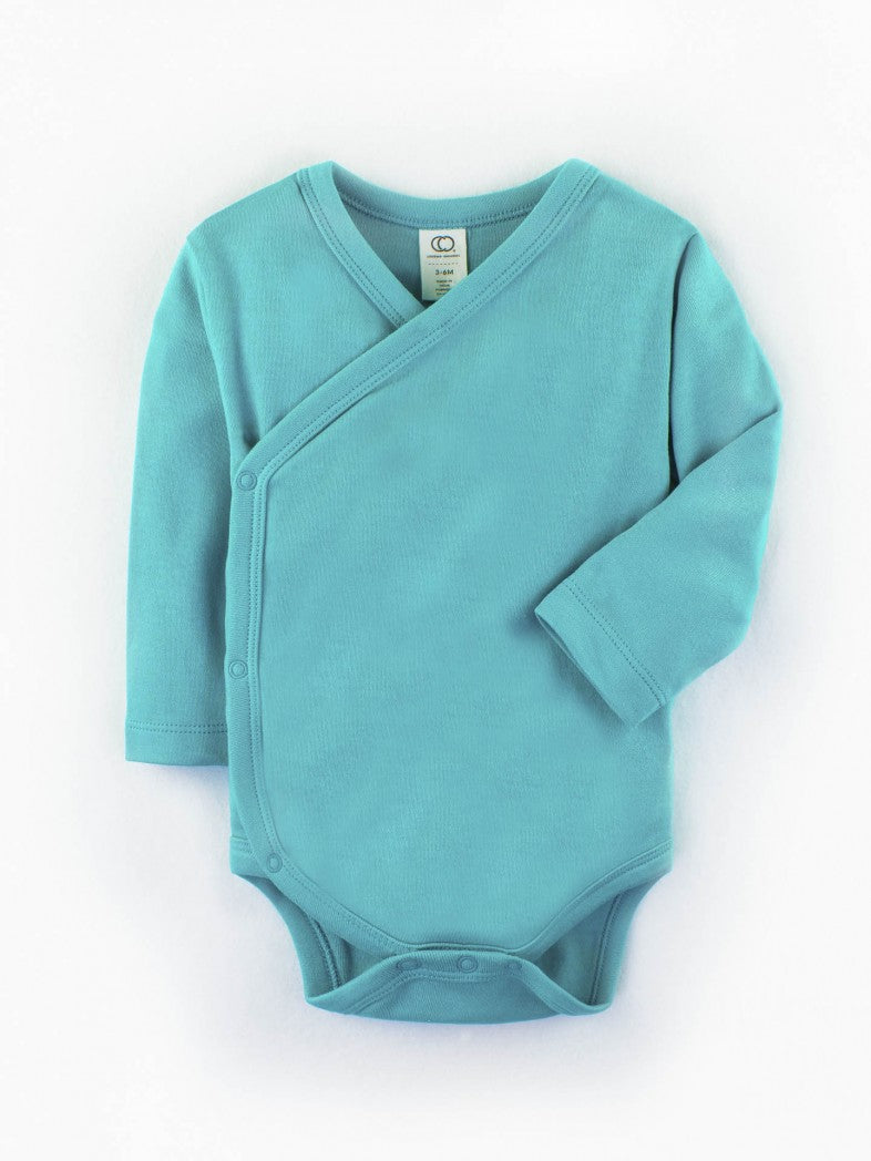 baby kimono body suit by colored organics