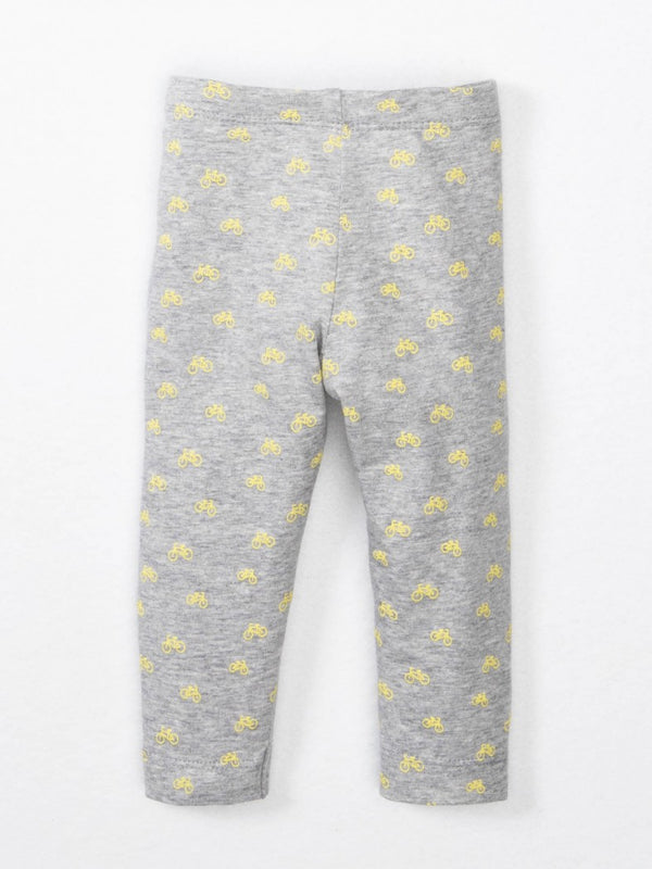 baby patterned leggings by colored organics bicycle print organic cotton