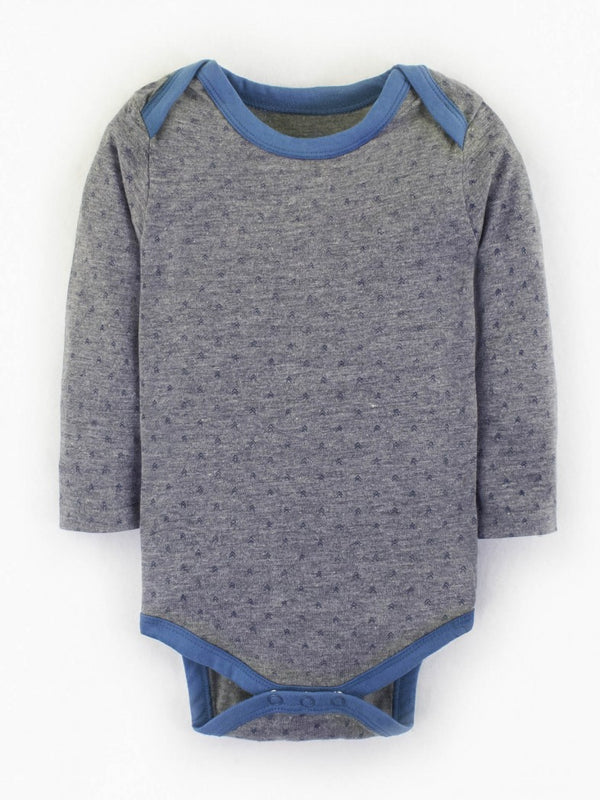 patterned long sleeve body suit unisex organic cotton
