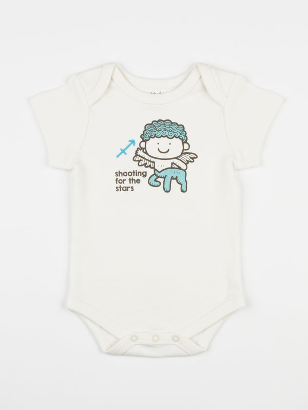 baby horoscope body suit onesie unisex sagittarius organic cotton