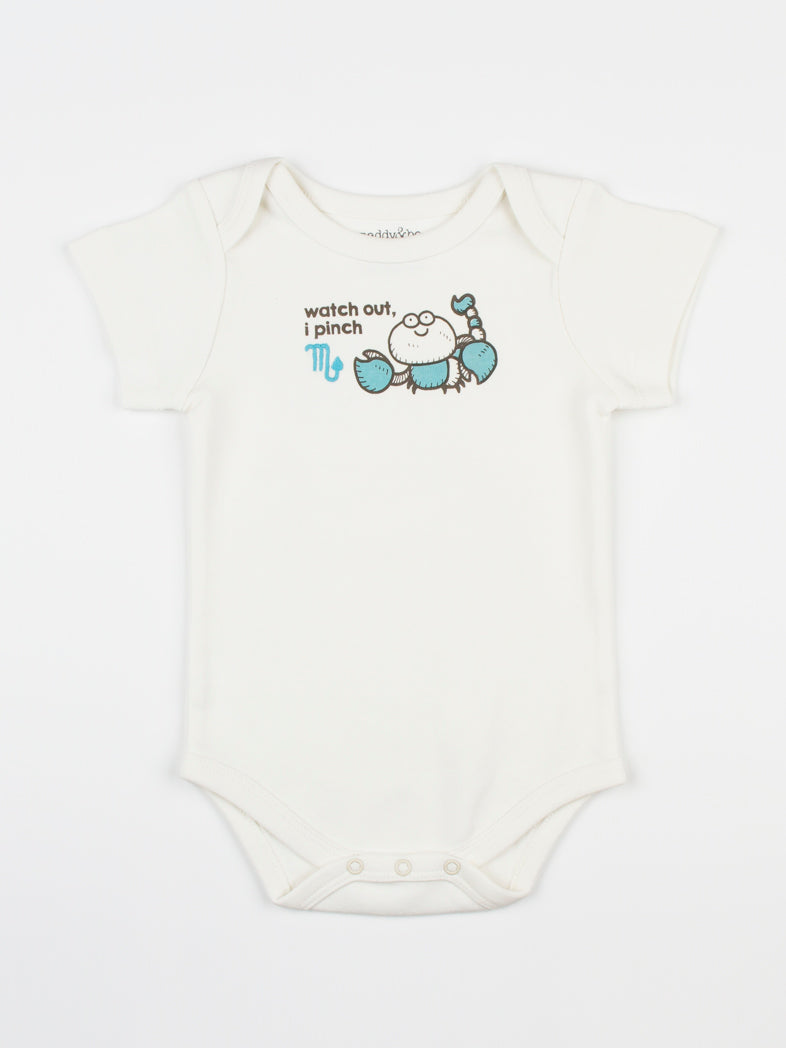 baby horoscope body suit onesie unisex scorpio organic cotton