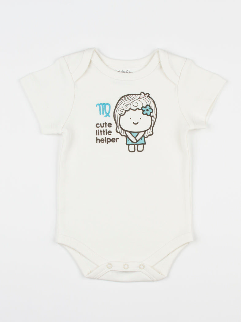 baby horoscope body suit onesie unisex virgo organic cotton