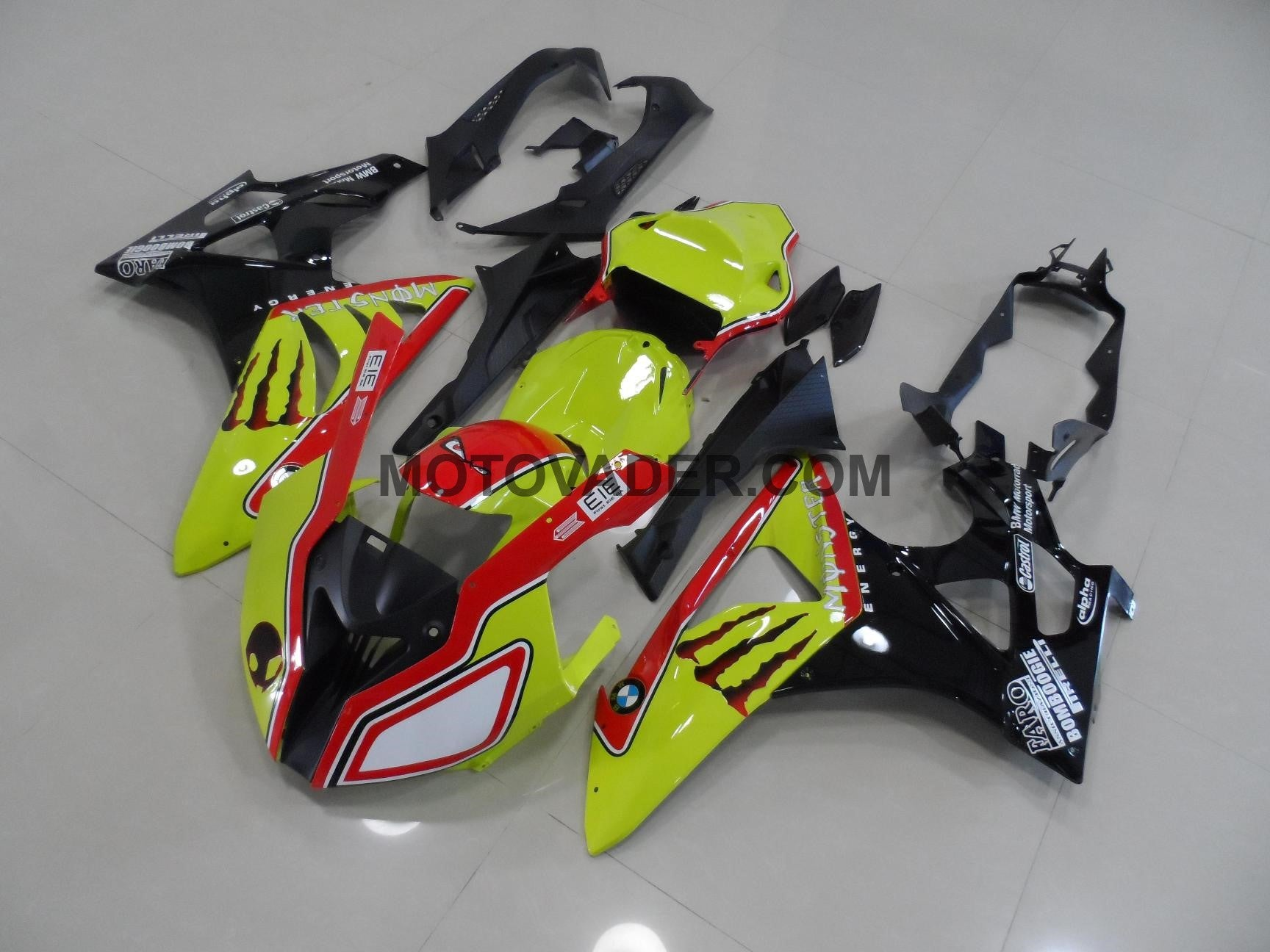 BMW S1000RR 2009-2012 Yellow & Black Race Fairing