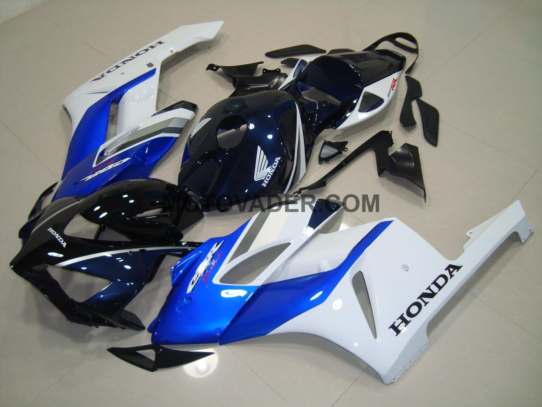 Honda CBR 1000RR 2004-2005 Dark Blue & White Fairing