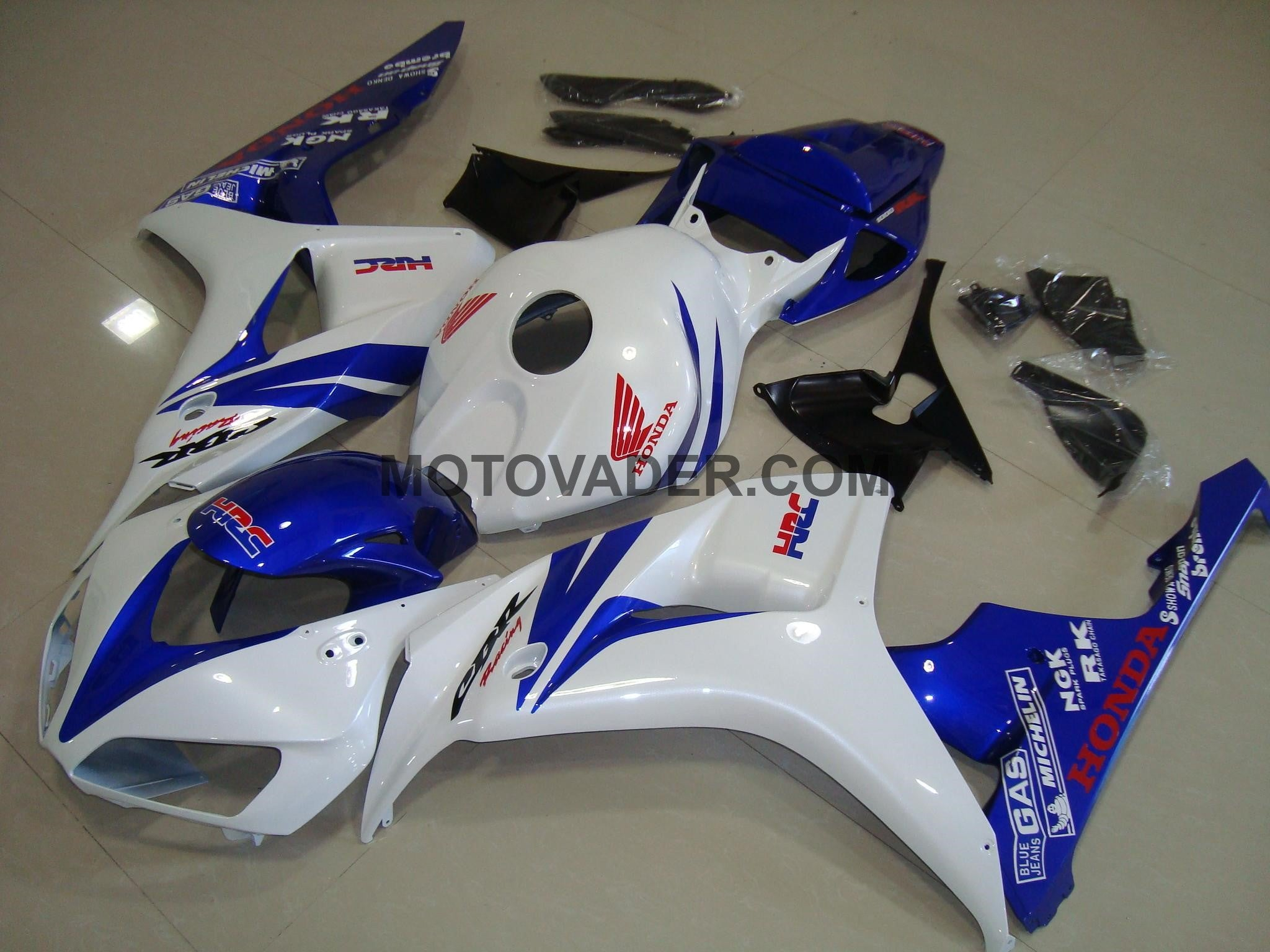 Honda CBR 1000RR 2006-2007 White & Blue Fairing