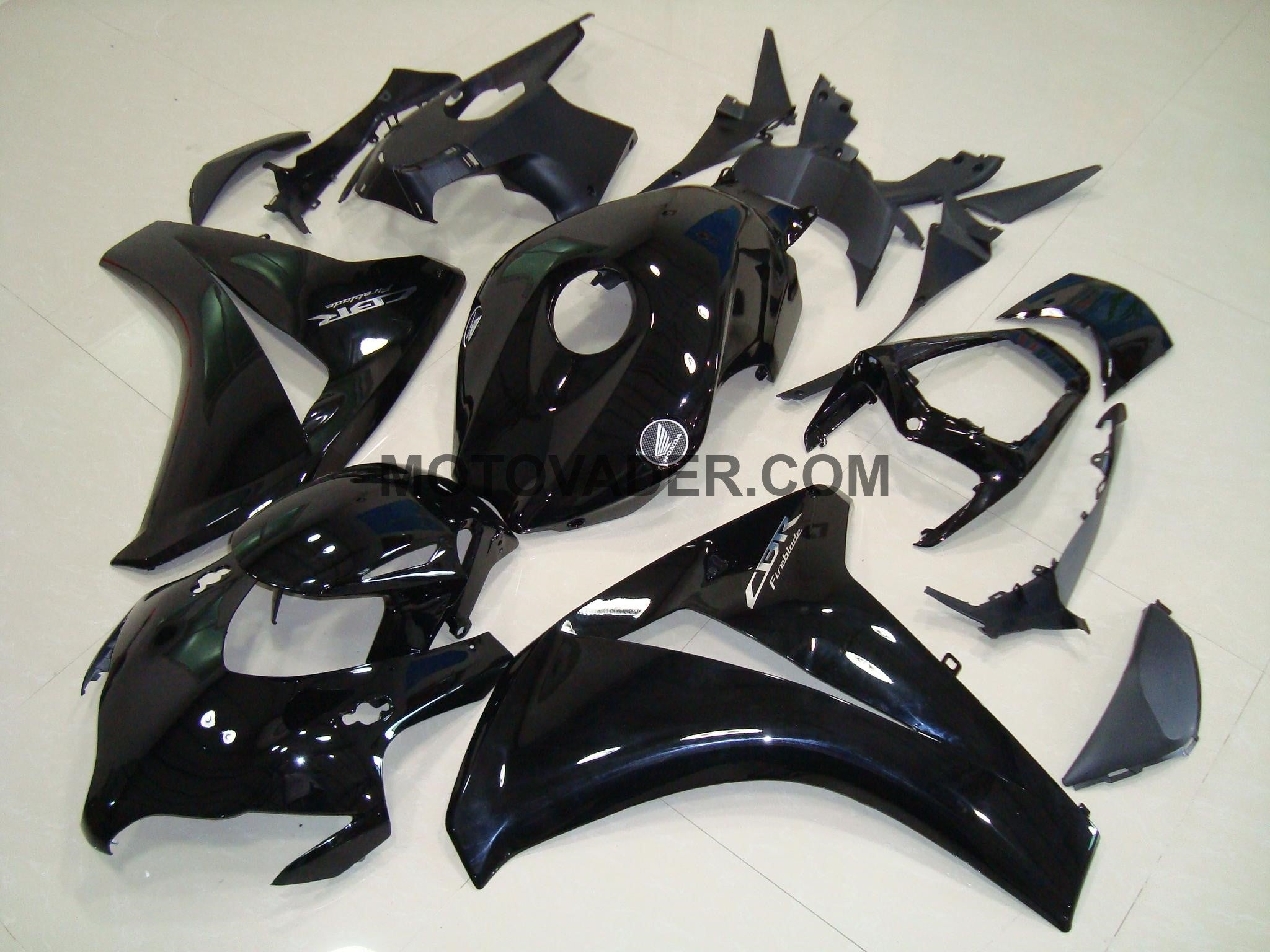 Honda CBR 1000RR 2008-2011 Gloss Black & Chrome Decals Fairing
