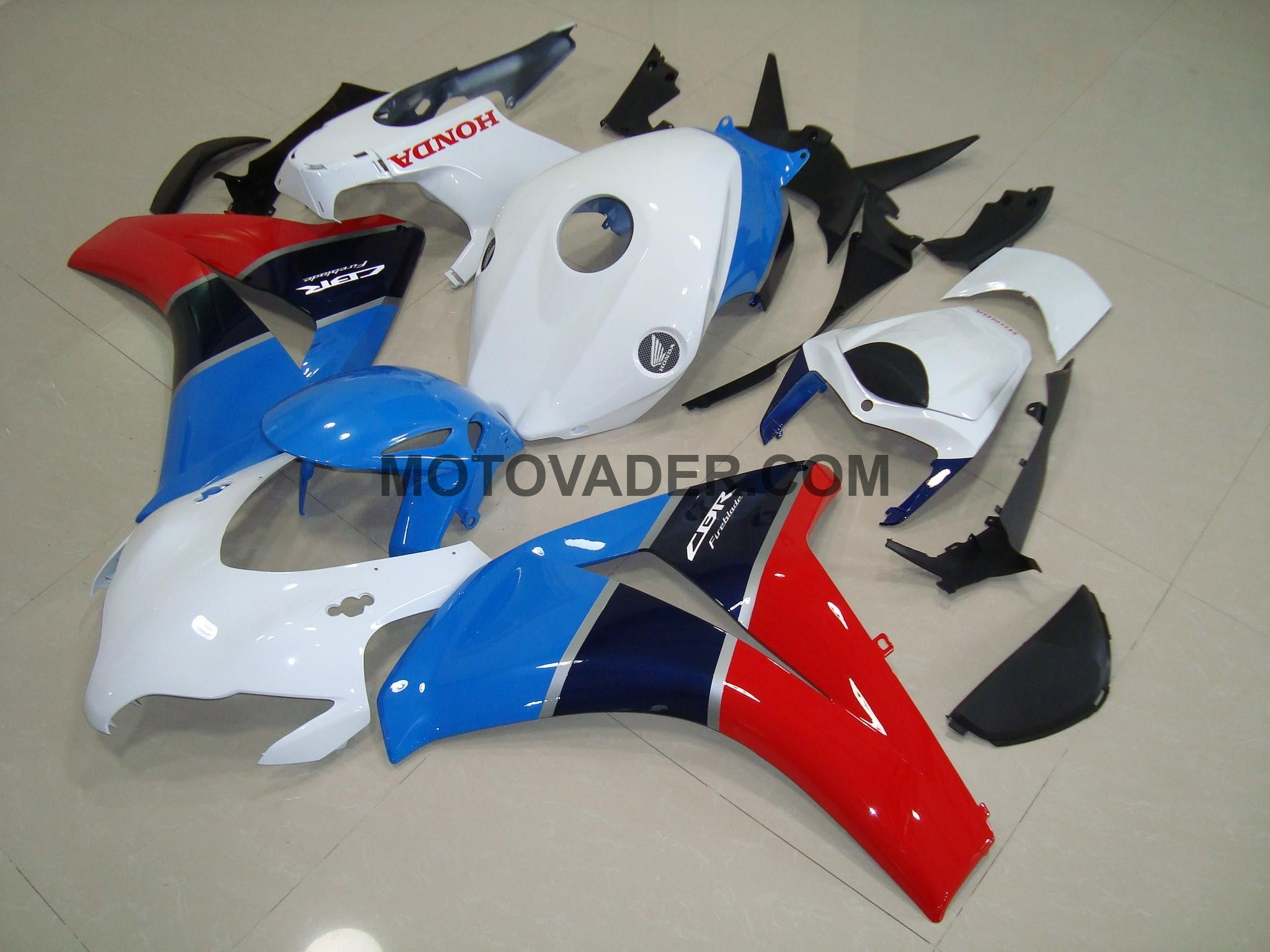 Honda CBR 1000RR 2008-2011 White & Blue & Red Fairing