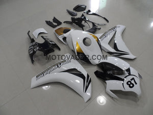 Honda CBR 1000RR 2009-2011 Black & White & Gold Fairing