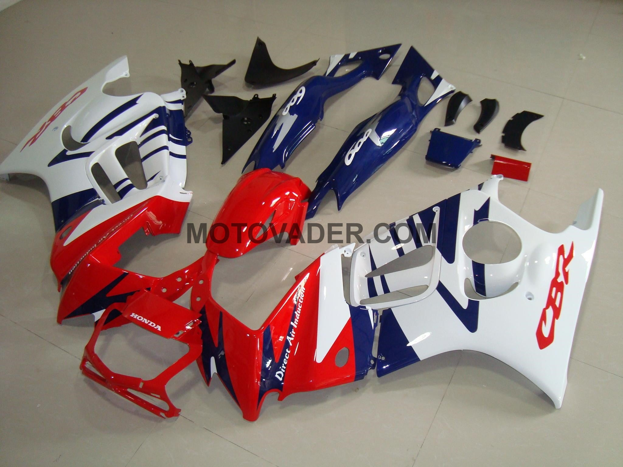 Honda CBR 600FS 1997-1998 Red & Blue & White Fairing
